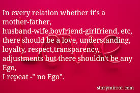 in every relation whether it s a mother father husband wife