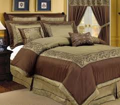 comforter sets luxury queen bed brown