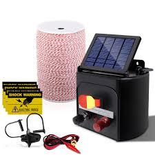 Giantz 3km Solar Electric Fence Energiser Energizer 0 1j 2000m Bo20 Ds 17283 Usd 179 84 Solar Panel Electric Online Shopping For Solar Panel Electric