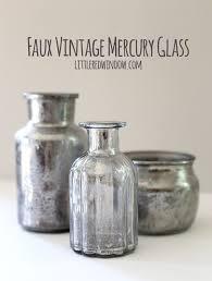 diy faux vintage mercury glass little