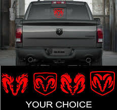 Dodge Ram Head Perfect Vinyl Decal Sticker For Your Trucks Rear Window Ebay
