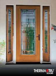 oak collection fiberglass door