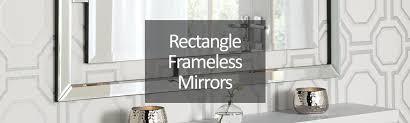 rectangular frameless mirrors
