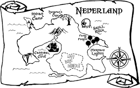Map Of Neverland Large Beautiful Wall Decals