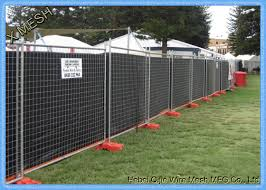 Hot Dipped Galvanized Temporary Mesh Fencing Heavy Duty Portable Fence Panels