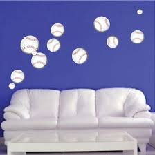 Baseball Wall Decal Sports Decor Boys Bedroom Wall Art Baseballs Remov American Wall Designs