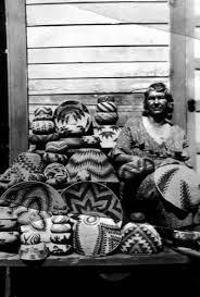 Ida Young Jackson and baskets (slide) — Calisphere