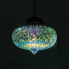glass shade colored glass pendant light