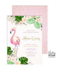 Flamingo Baby Shower Invitation Tropical Baby Shower Invitation