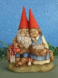 vintage garden cozy gnome couple