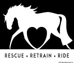 Rescue Retrain Ride Horse Vinyl Window Decal