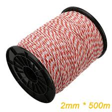 500m Roll Electric Fence Rope Red White Polywire With Steel Poly Rope For Horse Animal Fencing Ultra Low Resistance Wire Fencing Trellis Gates Aliexpress
