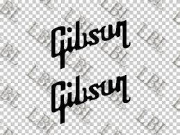 2pcs Set Of 2 Guitar Headstock Gibson Vinyl Decal Sticker Les Paul 17 5cm Stickers Aliexpress