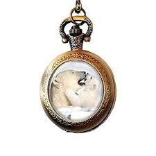 polar bear pendant pocket watch polar