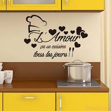French Cuisine L Amour With Heart Vinyl Wall Sticker Decal Kitchen Wall Art Decor Home Decor Poster House Decoration 40cm X 58cm Wall Stickers Aliexpress