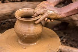 Potter making earthen pot — Stock Photo © neelsky #61461999
