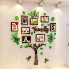 Vinyl Wall Decal Picture Frames Tree With Family Art For Sticker Photo India Vamosrayos