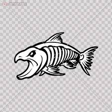 Amazon Com Sticker Decal Hungry Salmon Fish Skeleton L Color Print 9 X 5 1 Inch Vr278 Size 5 X 2 8 Inches Vinyl Color Print Kitchen Dining