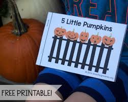 Five Little Pumpkins Free Rhyme Booklet