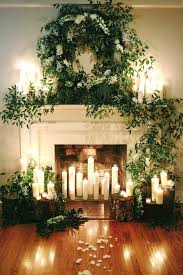 fireplace and mantel wedding backdrops