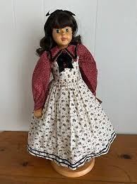 "Robert Raikes 17"" Abigail Wood Doll Brown Hair Blue Eyes 7161/7500 | eBay"