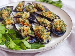 Baked mussels - Caroline's Cooking