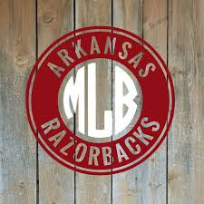 Ar01 Arkansas Razorback Decal Initials Monogram Yeti Rtic Etsy