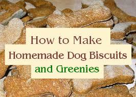 homemade dog treats and greenies