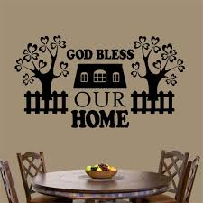 Christian Wall Decal God Bless Home Religious Vinyl Wall Etsy