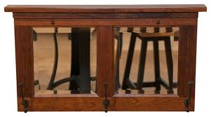 coat rack 3 hook rustic cherry wood