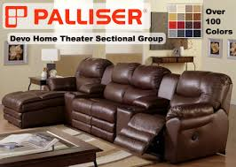 palliser home theater sectional sofa