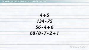 how to write a numerical expression