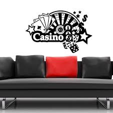 Casino Wall Sticker Gamble Decor Posters Vinyl Room Decoration Decals Decor Mural Casino Car Gambling Poker Decal Vinyl Wall Decals Decoration Muralewall Decals Aliexpress