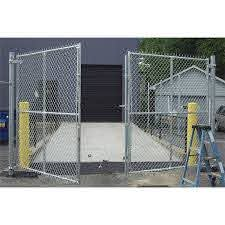 Hoover Fence Industrial Chain Link Fence Double Gates All 2 Galvanized Hf40 Frame Hoover Fence Co