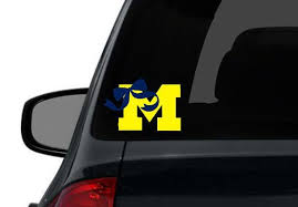 U Of M Girl Bow University Of Michigan Sticker By Heidihenion 5 00 Girls Bows University Of Michigan Michigan