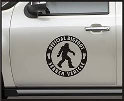 Amazon Com Sticker Connection Official Bigfoot Search Vehicle Bumper Sticker Decal For Car Truck Window Laptop 13 X13 Matte Black Arts Crafts Sewing