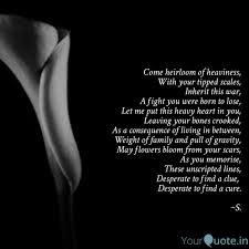 come heirloom of heavines quotes writings by sruthi suresh
