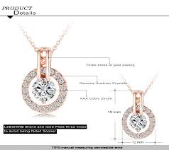 wedding jewelry sets rose gold color