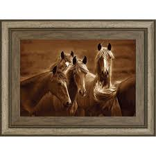 bad s horses framed wall art rc