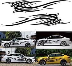Amazon Com Elliot Jonah 2pcs Car Side Body Stickers Flames Side Car Decal Sticker Vinyl Car Truck Suv 100 X 12 5 Arts Crafts Sewing