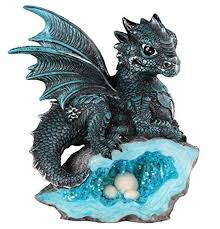 Mua StealStreet SS-G-71581, Blue Medieval Baby Dragon with Crystal ...