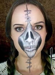 half skeleton makeup saubhaya makeup