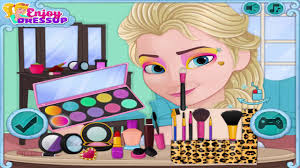 now and then elsa makeup frozen games