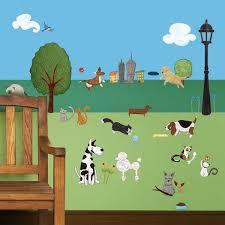 My Wonderful Walls City Park And Animal 37 Piece Wall Decal Set Wayfair