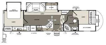 5th wheel front bunkhouse floor plans