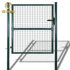 China 4 Feet Green Wire Filled Garden Fence Gate China Garden Gate Fence Gate