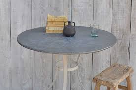 round zinc topped garden table home