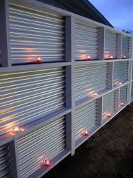 ideas of corrugated metal fence diy