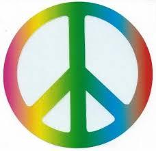 5in X 5in Rainbow Peace Symbol Bumper Sticker Decal Car Window Stickers Decals Stickertalk