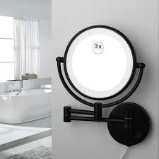 jieni chrome black makeup mirrors led